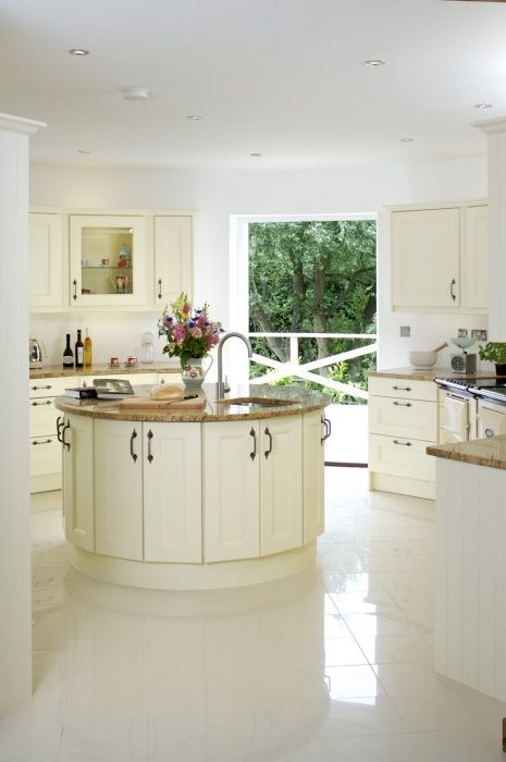 round shaped kitchen island design would you like to