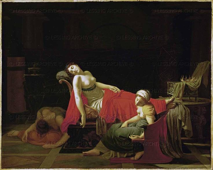 Regnault,Jean-Baptiste. Death of Cleopatra. Oil on canvas (1796-