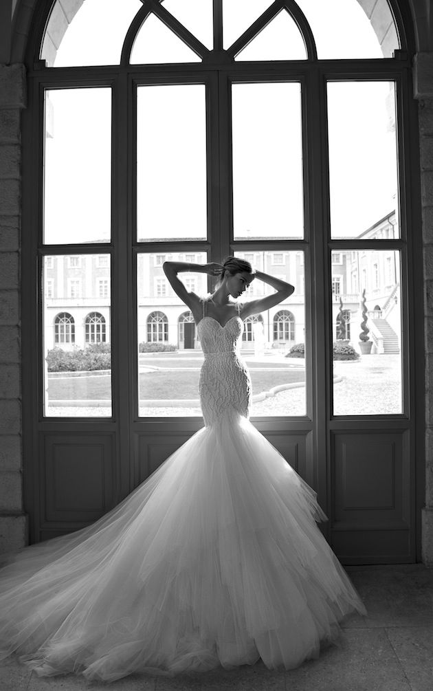 stunning fishtail wedding dress by @BERTA