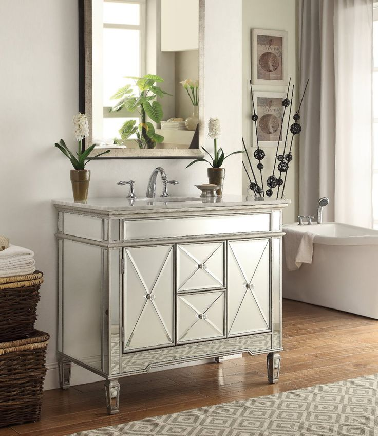 18 Best Mirrored Bathroom Vanities Images On Pinterest Bathroom Sink Vanity Discount Bathroom