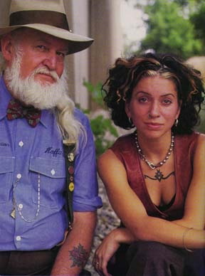 Folk musicians Utah Phillips R.I.P. and Ani DeFranco. Two powerhouses that made beautiful things together <3