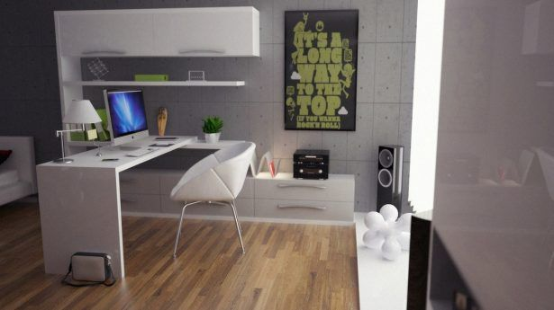 Home Design Workspace Decorating Green Gray White Room Interior Ideas Among Modern Minimalist Furniture Style Also Wooden Flooring in the House