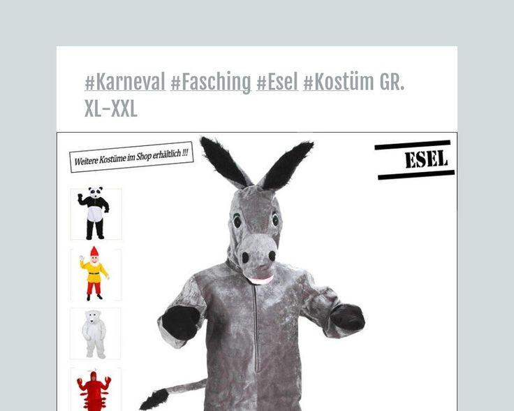 #Karneval #Fasching #Esel #Kostüm GR. XL-XXL