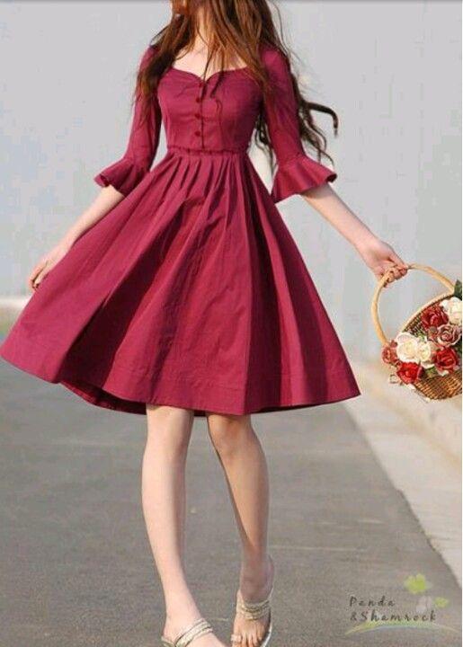 Prettty cranberry dress
