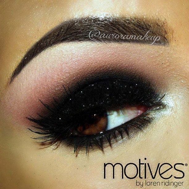 Black glitter smokey eye makeup #dark #glitter #bold #eye #makeup #eyes