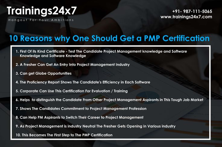 This image tell us about the benefits of #PMP Join our upcoming batch http://trainings24x7.com/pmp-certification-training/