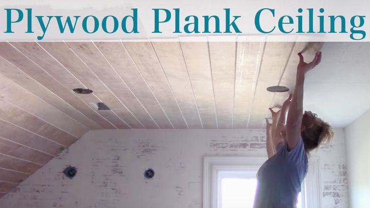 Diy Plywood Plank Ceiling Youtube Arizona House