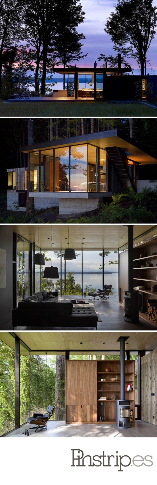 Mw works architecture -  The Case Inlet Retreat In Puget Sound Washington As A Simple Modern Piece Of