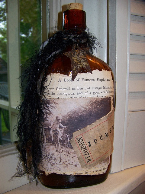 Altered Apothecary Bottle Vintage