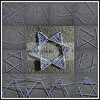 Estrella superpuesta tejida