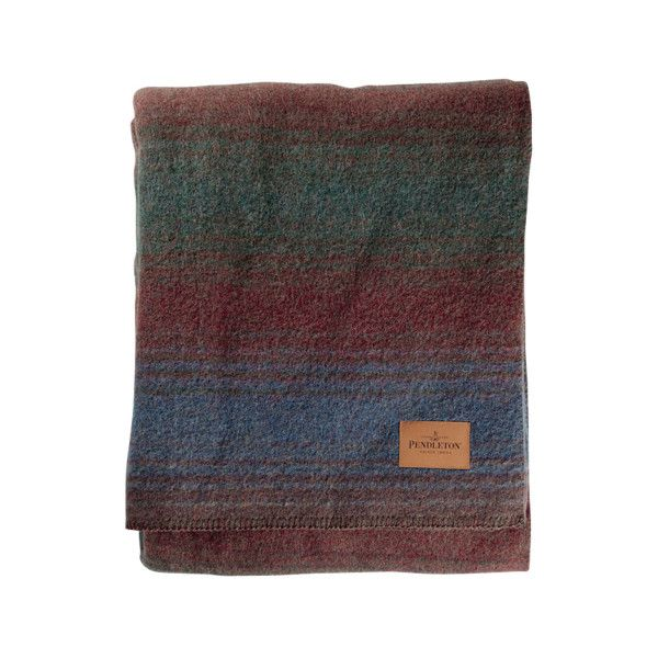 Twin Camp Clearwater Striped Blanket ($190) ❤ liked on Polyvore featuring home, bed & bath, bedding, blankets, stripe bedding, stripe blanket, striped bed linen, twin bed linens and pendleton bedding