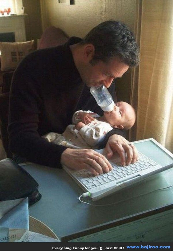 I'll bet this dad won't be allowed to babysit again!!