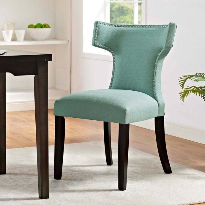 Phenomenal Modway Curve Dining Side Chair In Teal Apartment Model Ibusinesslaw Wood Chair Design Ideas Ibusinesslaworg