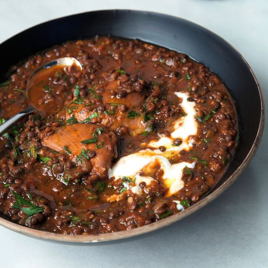 Slow Cooker Ethiopian-Spiced Chicken and Black Lentil Stew