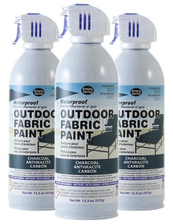 Simply Spray Outdoor Waterproof Fabric Spray Paint Charcoal Grey 3 Pack Fabric Spray Fabric Spray Paint Spray Paint Furniture