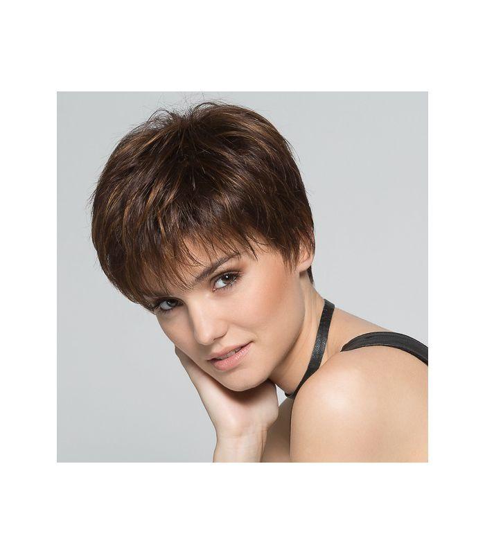 138 ¤ - Perruque chimio Perucci Scape - coupe courte éffilée - indispensable pour couvrir une chute de cheveux. Prothèse capillaire cheveux synthétique