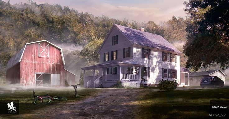 Hawkeye's Farmhouse 2 by atomhawk on DeviantArt