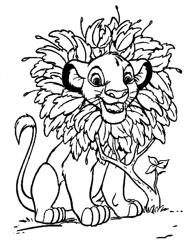 Lion King Coloring Pages Disney Coloring Pages Pinterest