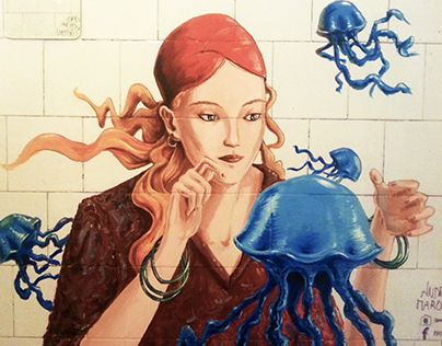 """Check out new work on my @Behance portfolio: """"Clairvoyant of jellyfish""""…"""
