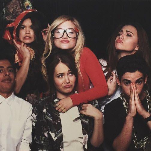 Kelli Berglund with Paris Berelc, Cameron Boyce, Olivia Holt, Karan Brar & Olivia Stuck