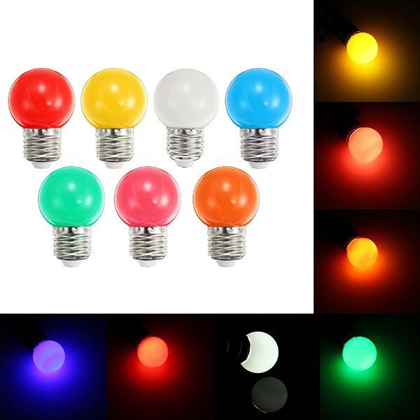 E27 1w Frosted Orange Rose White Red Green Blue Yellow Led Globe Light Bulb Ac220v Led Globe Lights Globe Light Bulbs Globe Lights