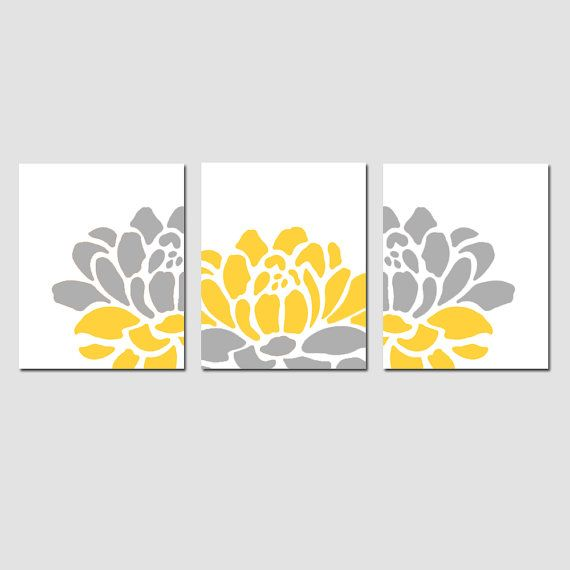 Floral Trio  Set of Three 8x10 Prints  Modern Wall Art  by Tessyla, $55.00
