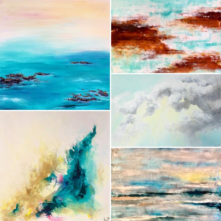 Abstract paintings by Viviane Bergevin. Ottawa artist, Canadian artist, abstract artist.