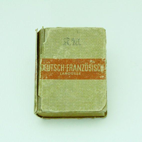Wörterbuch Deutsch Französisch Larousse von VintageDesignDealers