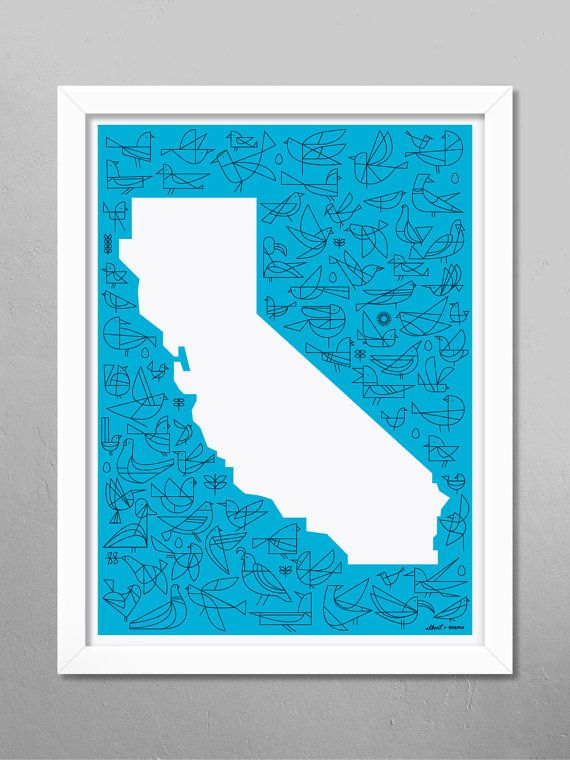 California - Flight Poster - 18 x 24