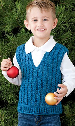 Ravelry: Child's Cabled Vest pattern by Ira Dearing