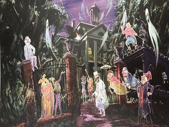 Haunted Mansion Disneyland Art Etsy Haunted Mansion Disneyland Haunted Mansion Ride Disney Haunted Mansion