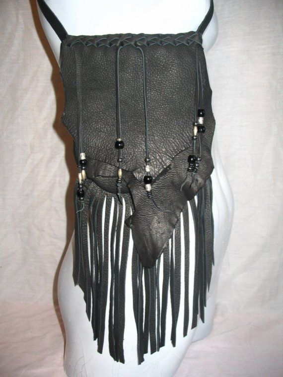 Artisan Made Leather Bag Black Deerskin 6x7 Crossover by dleather, $99.95