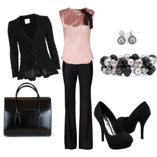 Pink and black is beautiful and classy!: Date Night, Fashion, Style, Clothing, Date Night, Pink Tops, Closet, Work Outfits, Pink Black