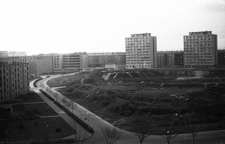 kilátás az Aranyvölgyi út felől a Köztársaság útra. Háttérben a Szórád Márton út magasházai.