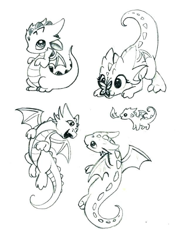 17 Dragon Drawings Cool Cute Easy For Your And Your Kids Baby Dragons Drawing Cute Dragon Drawing Easy Dragon Drawings