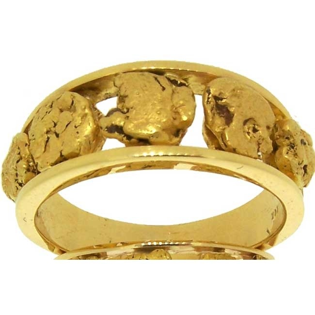 custom alaskan gold nugget ring www goldrushfinejewelry