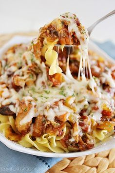 The Comfort of Cooking » Cheesy Crockpot Chicken Cacciatore