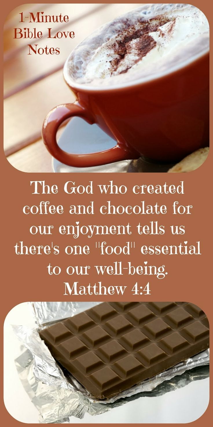 How would handle a shortage of chocolate and coffee?  Would it cause you more problems than a shortage of God's Word?