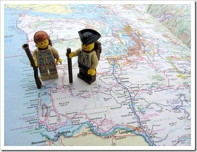 Unit Study: The Lewis and Clark Expedition. Why didn't I think of using lego minifigures for homeschool lessons???