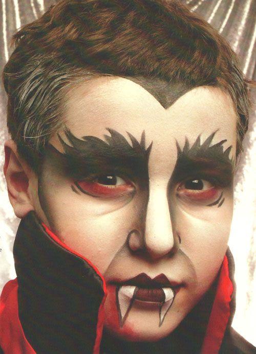 resultado de imagen de maquillaje halloween nios vampiro