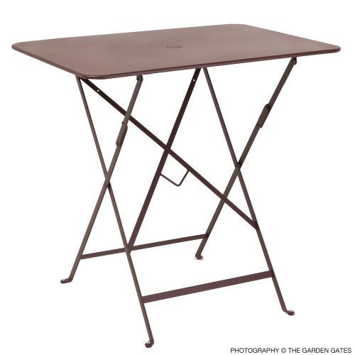 Fermob bistro rectangular 30 x 22 inch table with parasol for Fermob bistro table
