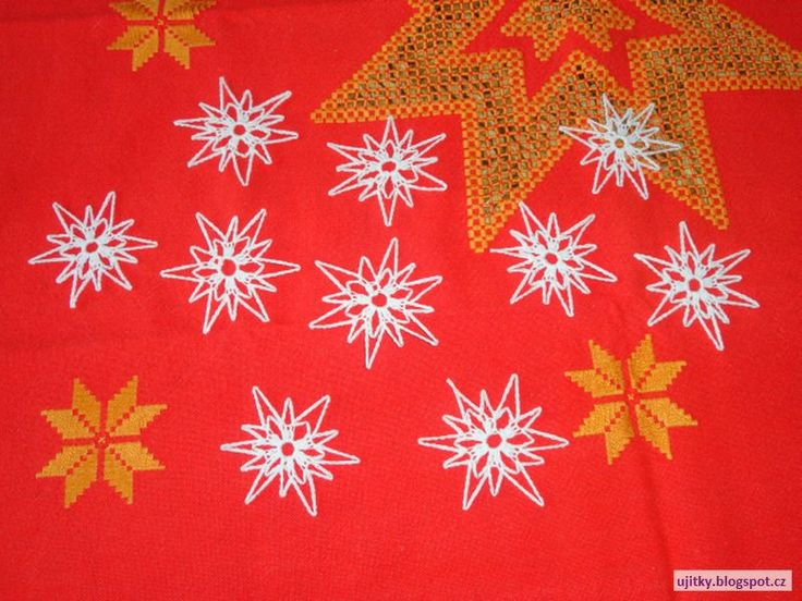 Háčkované Vánoce - hvězdičky - návod