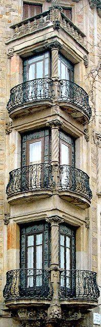 Windows and balconies of Paris, beautiful.