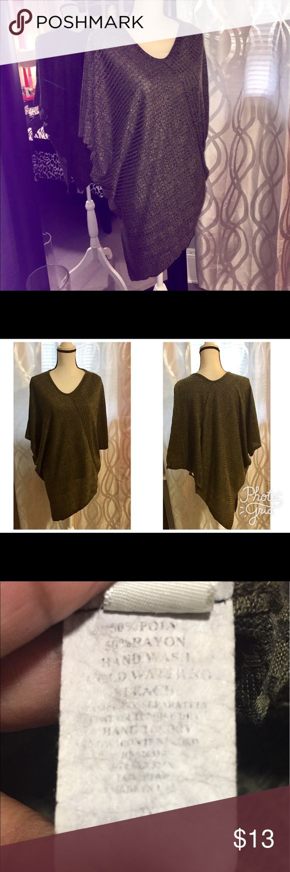 Olive Green Short Sleeve top Sz 2x Olive Green Short Sleeve top Sz 2x Tops