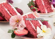 Торт розовый бархат + легкий способ украсить его цветами