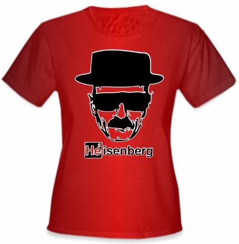 """Heisenberg The Cook Girl's T-Shirt. See what your favorite chemist is cooking up with this """"Heisenberg the Cook"""" T-Shirt. Heisenberg is the main character from AMC's hit TV Show """"Breaking Bad"""" ! This shirt is a must for any Breaking Bad Fan!"""