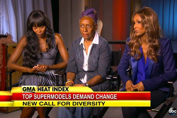 Three models, Naomi Campbell, Bethann Hardison and Iman, discuss campaign for increased diversity on runways.