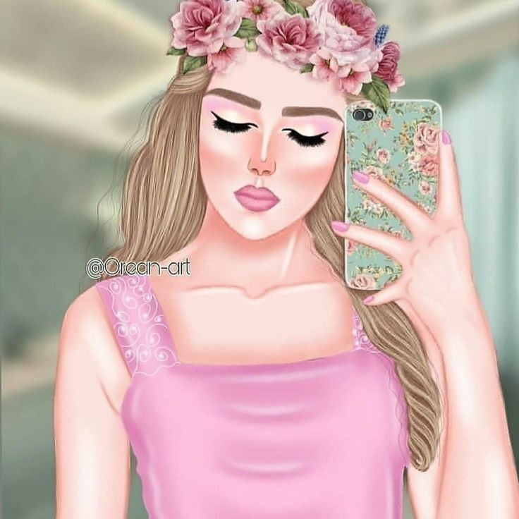 Pin By ن ج م ه On Art Girly Pictures Girly M Cute Cartoon Girl