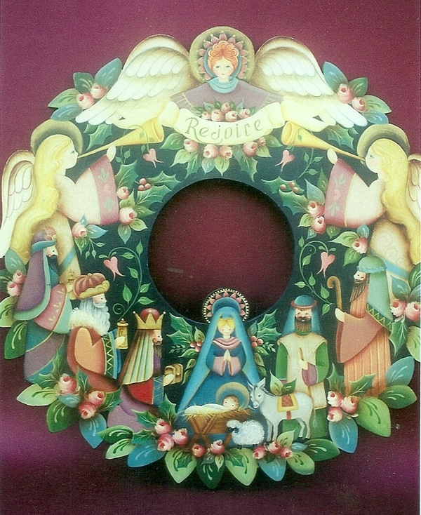 I painted this wreath with Rosemary West at SDP convention years ago.