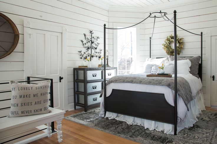 In Magnolia house, the Master bedroom